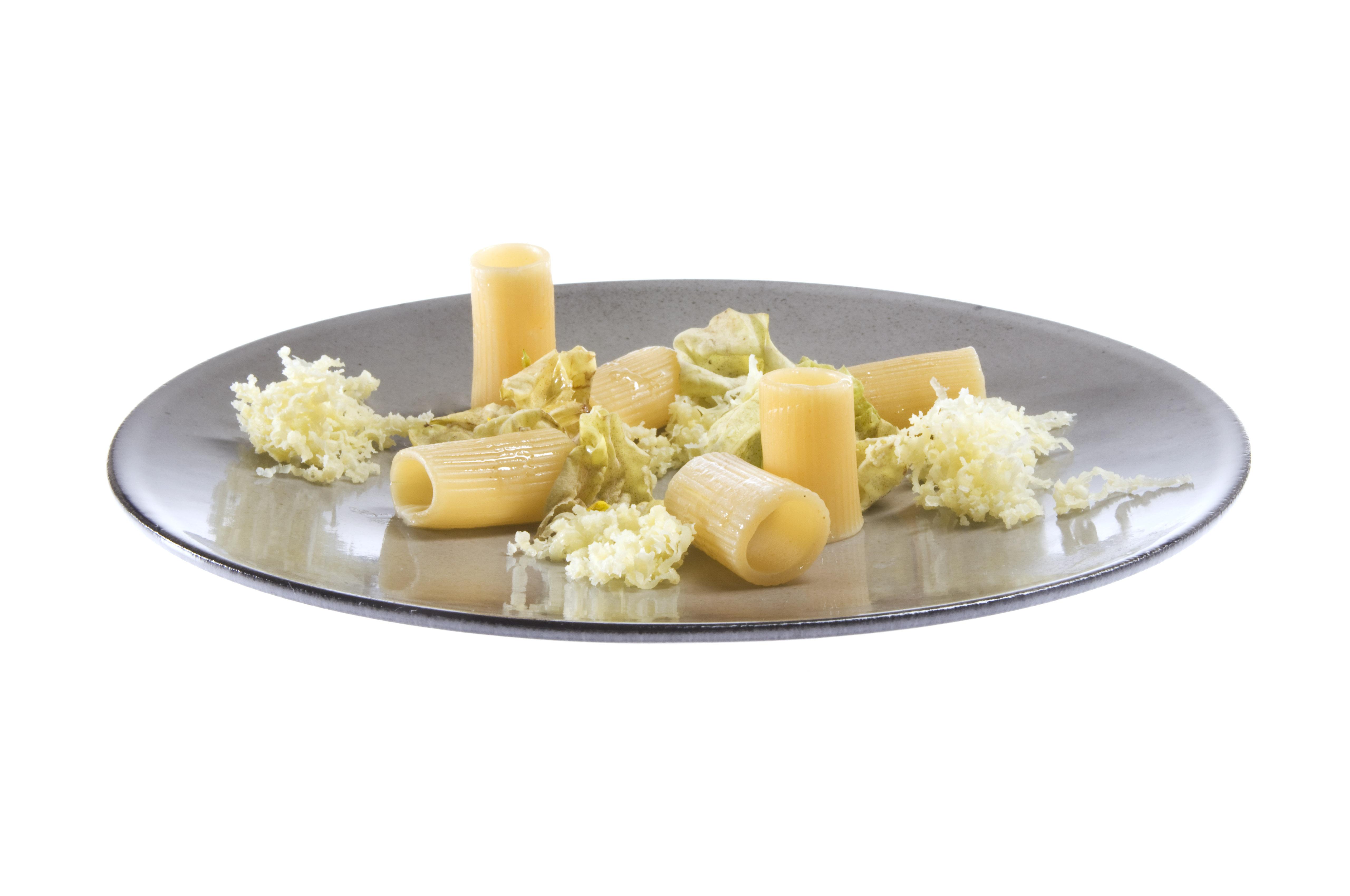 今週のレシピ: リガトーニとレタスの甘草風味、おろしオイルバター添え