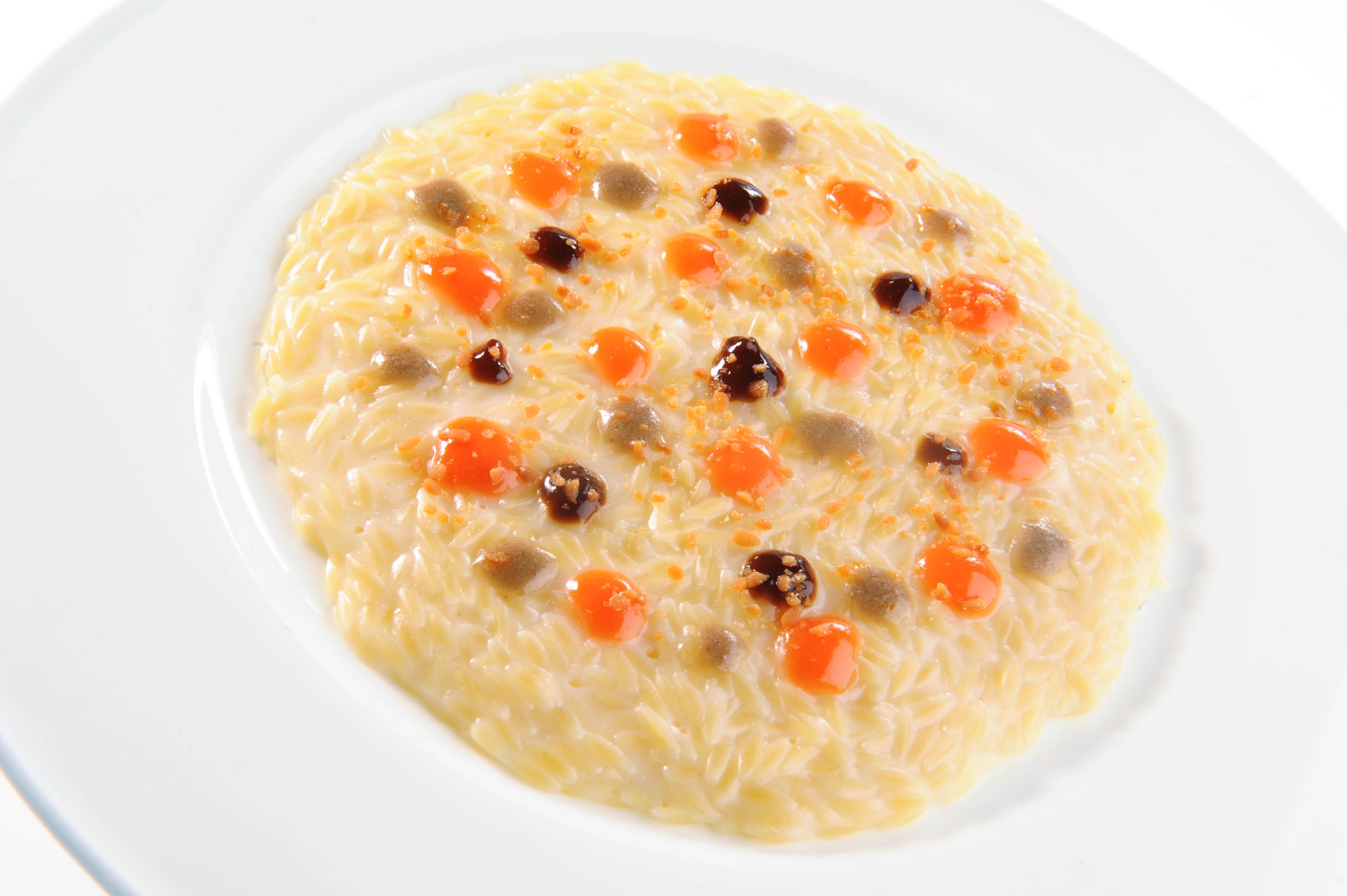 Acciughe caffe amaro arancia e pasta mantecata