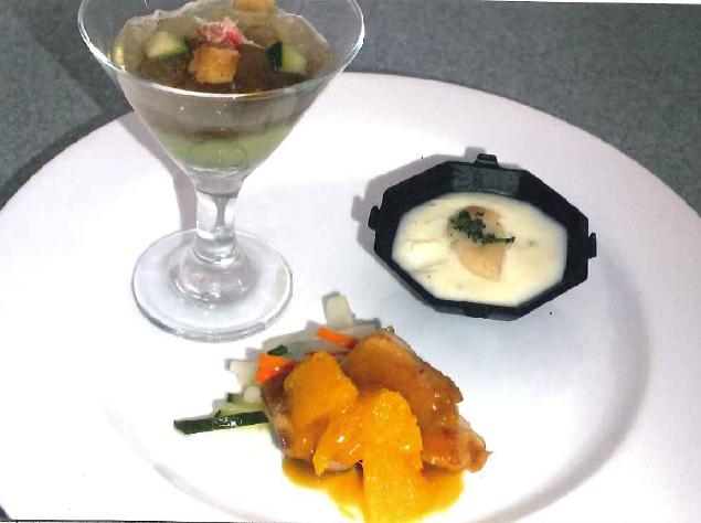 3 varietà di antipasto di verdura 彩り3種のアンティパスト