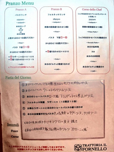 TRATTORIA IL FORNELLO menu net