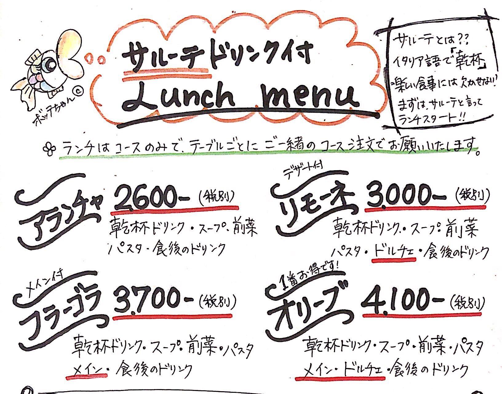 bottega blue menu 1